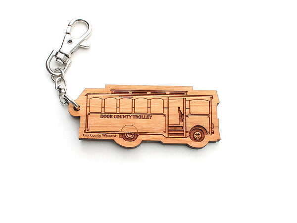 Door County Trolley Key Chain - Nestled Pines