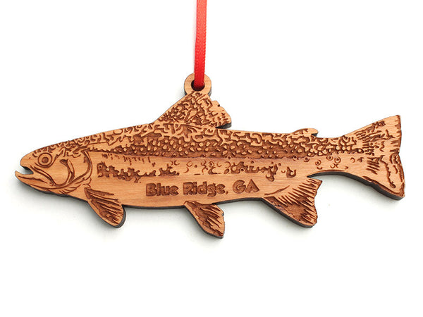 Blue Ridge Brook Trout Ornament Revised - Nestled Pines
