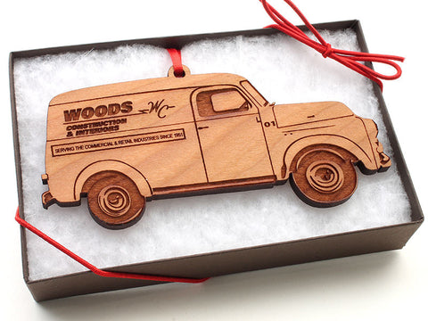 Woods Construction Old Truck Ornament