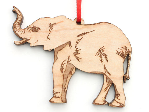 Trumpeting African Elephant Ornament