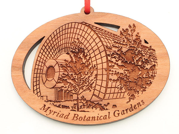 Myriad Botanical Gardens Greenhouse Oval Custom Ornament