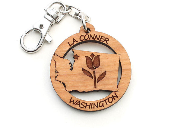 Reclamation Candle Co Washington State Tulip Key Chain