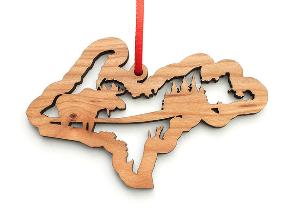 Upper Michigan Moose Ornament - Nestled Pines