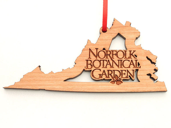 Norfolk Botanical Garden Virginia Logo Insert Ornament