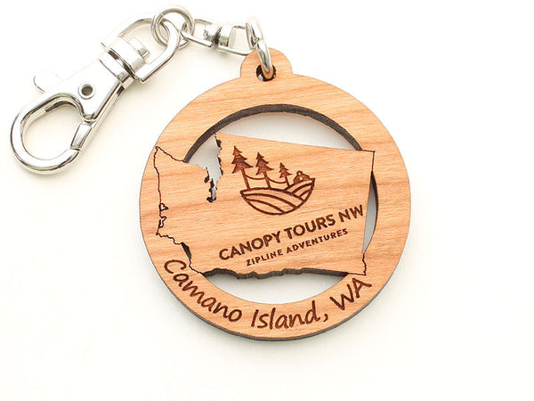 Canopy Tours Washington State Logo Key Chain