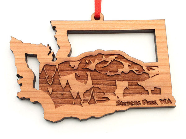 Stevens Pass Washington State Mountain Insert Ornament