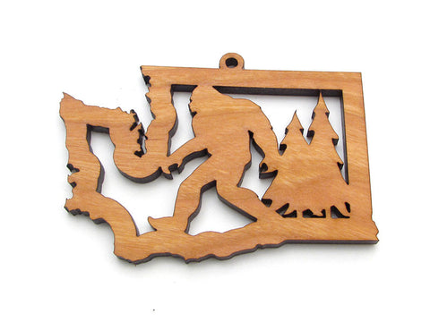 Washington State Sasquatch Ornament - Nestled Pines