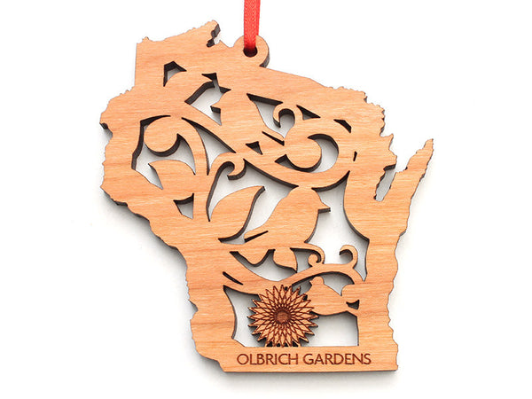 Olbrich Gardens WI Bird Insert Ornament - Nestled Pines