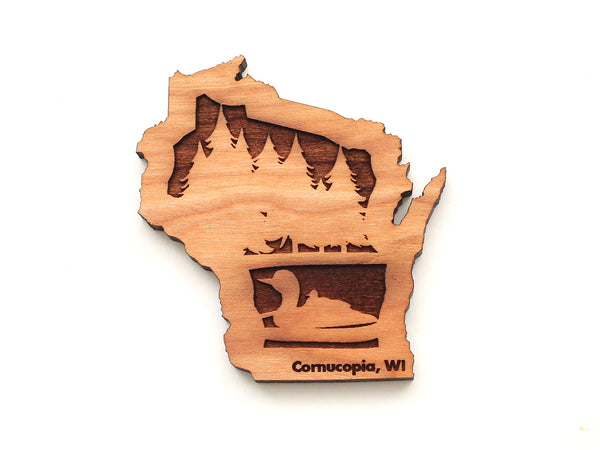 Good Earth Outfitters Wisconsin Loon Insert Magnet