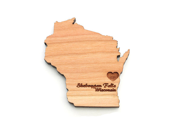 Tiny Tikes Corner Wisconsin State Custom Magnet - Nestled Pines