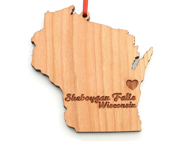 Tiny Tikes Corner Wisconsin State Custom Ornament - Nestled Pines