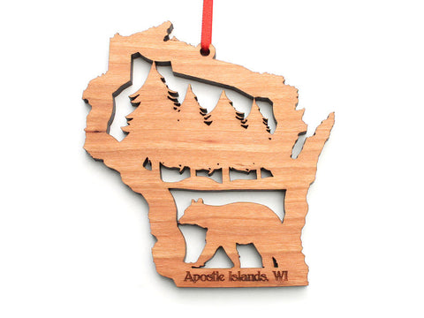 Apostle Island NLS WI Bear Cut Out Ornament - Nestled Pines