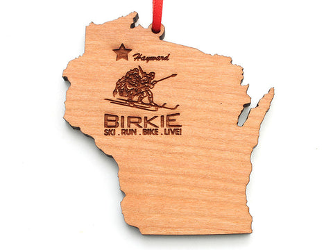 Birkie WI State Engraved Ornament - Nestled Pines