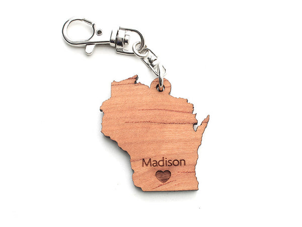 Wisconsin State Key Chain - Nestled Pines