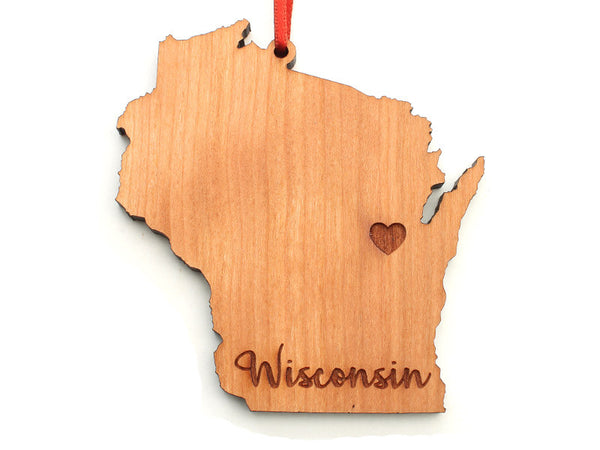 Red Door Retail Wisconsin Custom Engraved Ornament - Nestled Pines