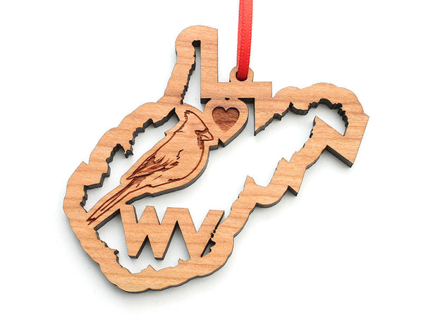 West Virginia State Cardinal Ornament - Nestled Pines