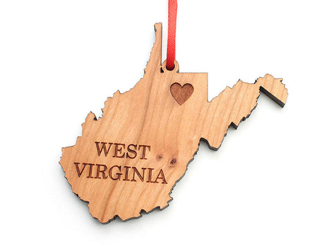 West Virginia State Ornament - Nestled Pines