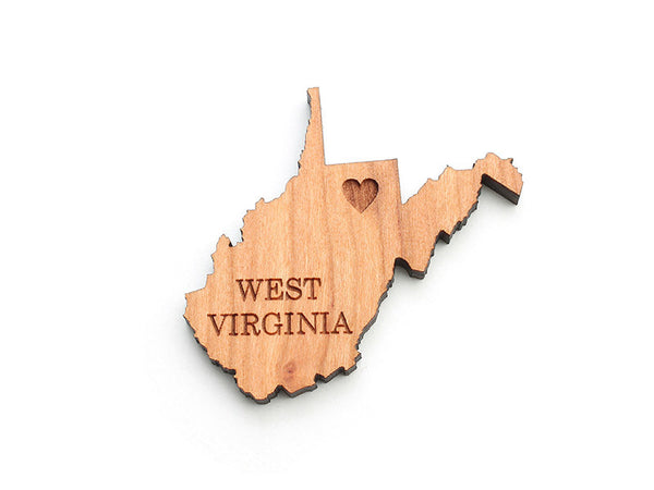 West Virginia State Magnet - Nestled Pines