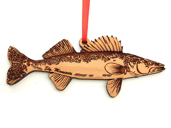 Mealey's Custom Engraved Walleye Ornament - Nestled Pines