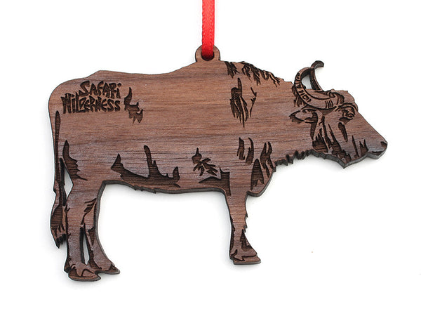 Safari Wilderness Water Buffalo Custom Ornament - Nestled Pines