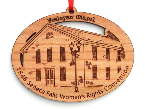 Women's Rights NHP Wesleyan Chapel Oval Custom Ornament