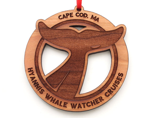Cape Cod Whale Fluke Ornament