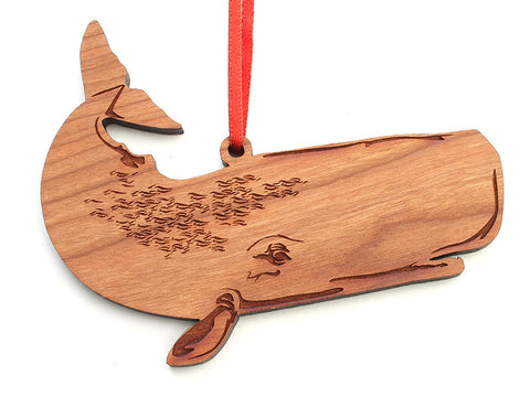 Sperm Whale Ornament - Nestled Pines