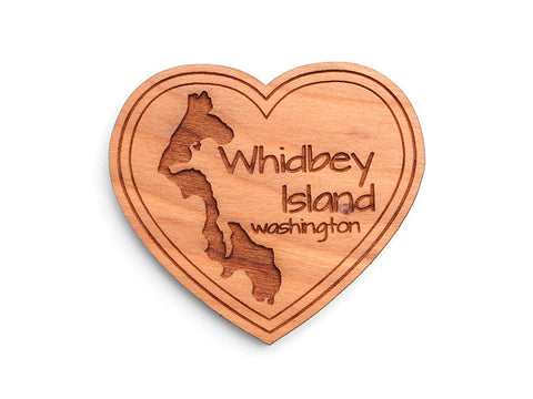 Admiralty Head Whidbey Island Heart Custom Magnet - Nestled Pines