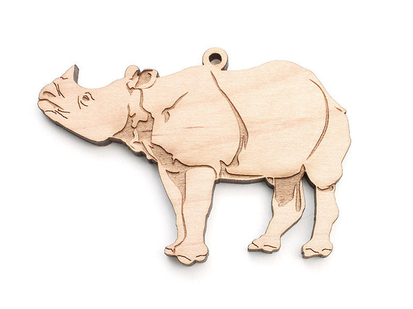 White Rhinoceros Ornament - Nestled Pines