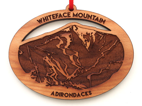 White Face Mountain Adirondacks Oval Ornament