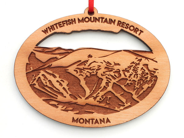 Whitefish Mountain Resort Oval Ornament