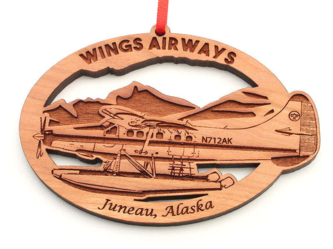 Wings Airways Alaska Float Plane Oval Ornament