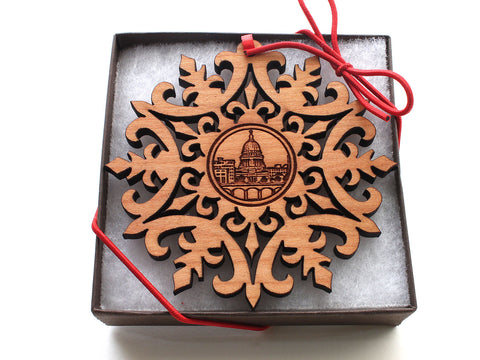 Wisconsin Capitol Building Snowflake Gift Box