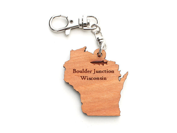 Blueberry Patch Wisconsin Key Chain ND - Nestled Pines