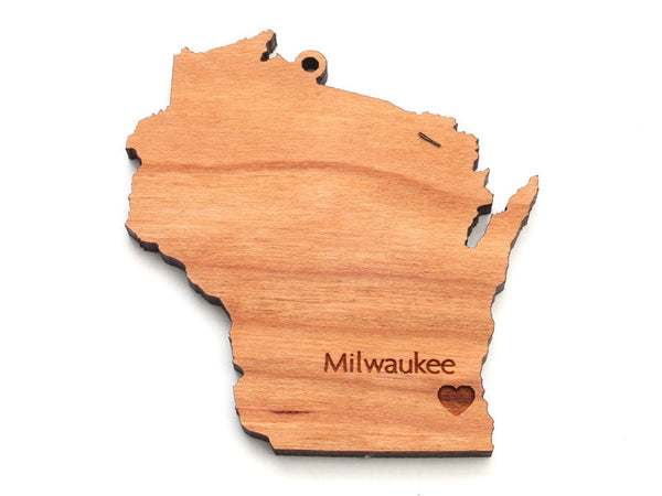 Wisconsin State Ornament - Nestled Pines