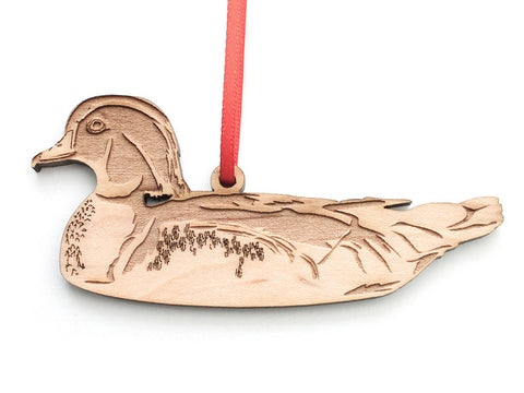 Swimming Wood Duck Ornament - Nestled Pines