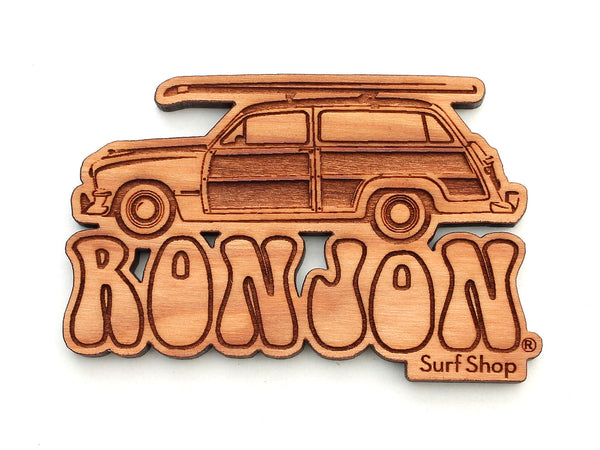 Ron Jon Surf Shop Woody with Surf Board Magnet