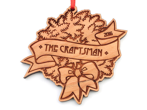 The Craftsman Custom Wreath Ornament - Nestled Pines