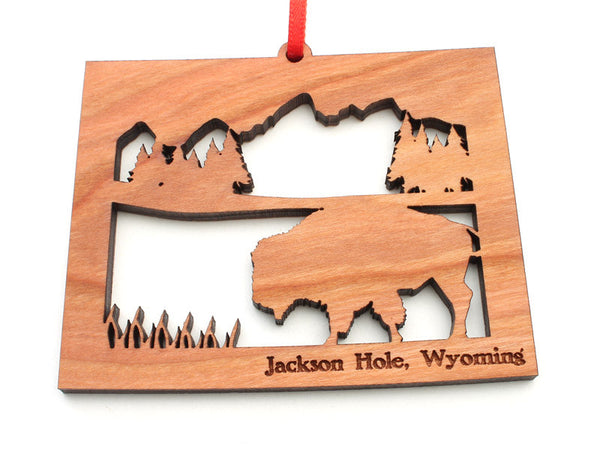 Wyoming Outfitters State Shape Buffalo Insert Ornament