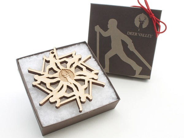 Deer Valley Cross Country Skier Ornament - Nestled Pines