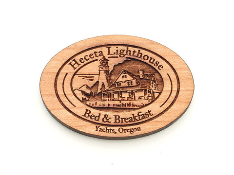 Heceta Lighthouse Logo Magnet - Yachats Oregon