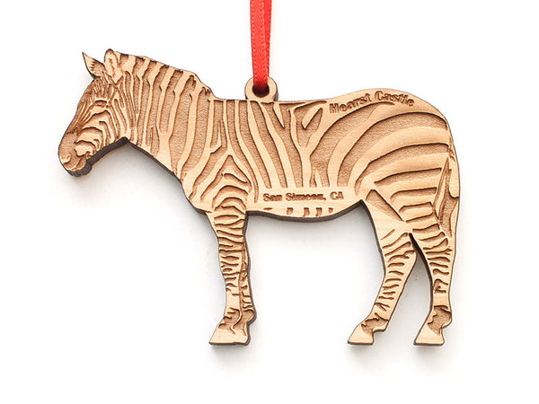 Hearst Castle Zebra Ornament - Nestled Pines