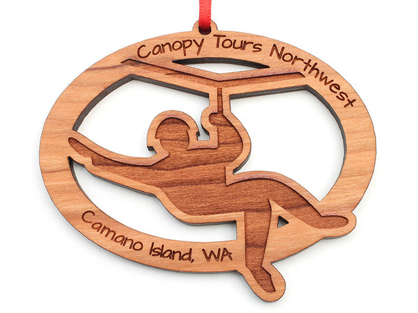 Canopy Tours Zipline Oval Ornament