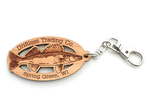 Custom Walleye Key Chain Driftless Trading Co. - Nestled Pines