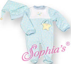 "12"" Baby Doll Starry Nights Blue Sleeper"