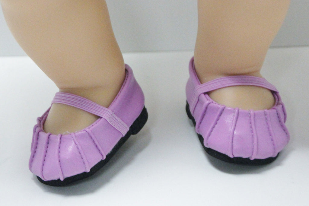 Bitty Baby Size Ballet Flats - Lavender