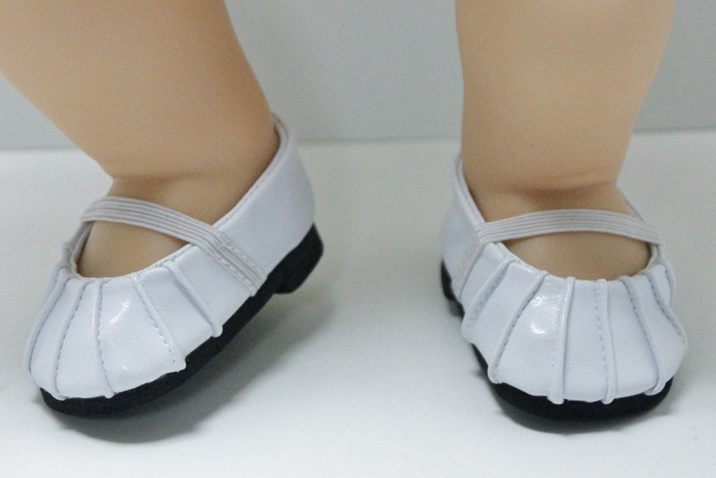 Bitty Baby Size Ballet Flats - White