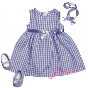 Bitty Baby Lavender Checked Dress