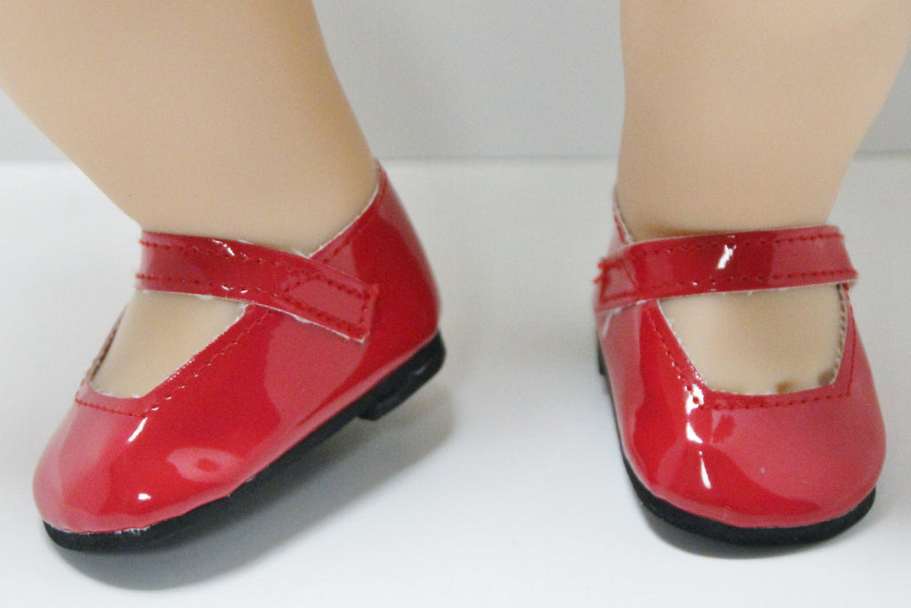 Bitty Baby Mary Jane Shoes - Red