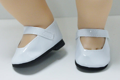 Bitty Baby Mary Jane Shoes - White